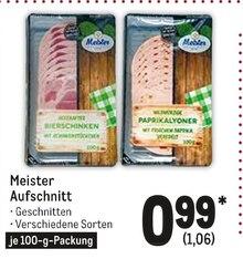 Wurst von Meister im aktuellen Metro Prospekt für 1.06€