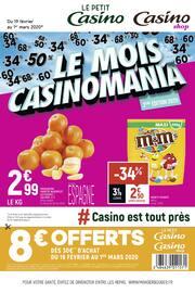 Catalogue Petit Casino en cours, Le mois Casinomania, Page 1