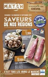Catalogue Supermarchés Match en cours, Saveurs de nos régions, Page 1