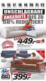 Aktueller Seats and Sofas Prospekt, Unschlagbare Angebote, Seite 1