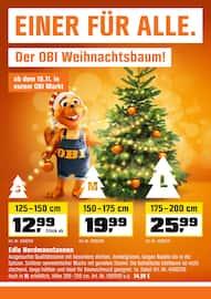 Aktueller OBI Prospekt, EINER FÜR ALLE. Der OBI Weihnachtsbaum!, Seite 1