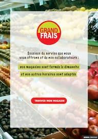 Catalogue Grand Frais en cours, Grand Frais : nos horaires, Page 1