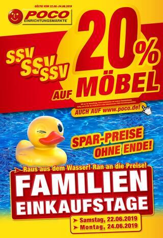 Aktueller POCO Prospekt, SSV - Spar-Preise ohne Ende - 20% auf Möbel, Seite 1