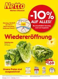 Netto Marken-Discount, Wiedereröffnung - 10% auf alles für Berlin