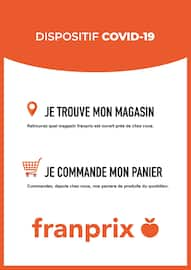 Catalogue Franprix en cours, Dispositif Covid-19, Page 1