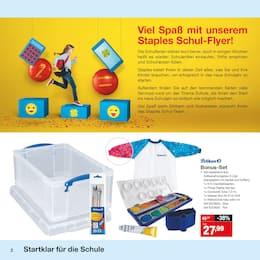 Aktueller Staples Prospekt, Startklar für die Schule, Seite 2