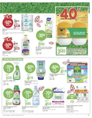 Catalogue Géant Casino en cours, Sélection Bio, Page 21