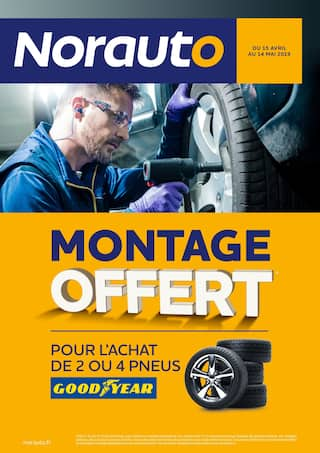 Catalogue Norauto en cours, Montage offert, Page 1