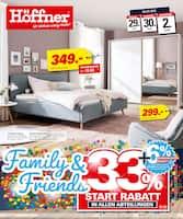Aktueller Höffner Prospekt, Family & Friends - 33% Start-Rabatt in allen Abteilungen, Seite 1
