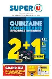 Catalogue Super U en cours, La quinzaine commerçante, Page 1