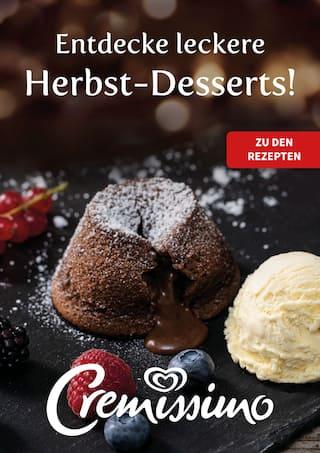 Aktueller Langnese Cremissimo Prospekt, Entdecke leckere Herbst-Desserts!, Seite 1