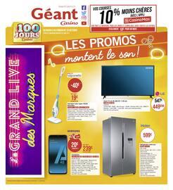 Catalogue Géant Casino en cours, Les promos montent le son !, Page 1