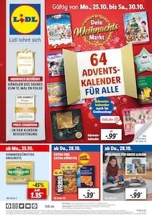 Lidl Prospekt für Allmannsweiler b Bad Saulgau: 64 ADVENTSKALENDER FÜR ALLE, 62 Seiten, 24.10.2021 - 30.10.2021