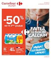 Catalogue Carrefour Market en cours, Faites le plein de calcium, Page 1