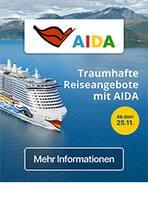 Aktueller AIDA Prospekt, Reiseangebote, Seite 1