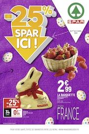 Catalogue Spar en cours, -25% Spar ici !, Page 1