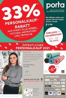 porta Möbel Prospekt für Halberstadt: 33% PERSONALKAUFRABATT, 2 Seiten, 24.10.2021 - 30.10.2021