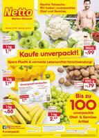 Aktueller Netto Marken-Discount Prospekt, Nackte Tatsache: Wir haben unverpacktes Obst und Gemüse., Seite 1