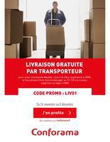 Catalogue Conforama en cours, Livraison gratuite par transporteur, Page 1