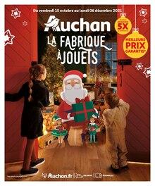 """Auchan Catalogue """"La fabrique à jouets"""", 80 pages, Saint-Brice-sous-Forêt,  14/10/2021 - 06/12/2021"""