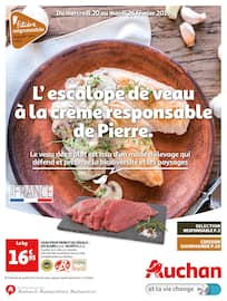Catalogue Auchan en cours, L'escalope de veau à la crème responsible de Pierre., Page 1