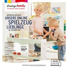 Ernstings family Prospekt für Helse: UNSERE ONLINE SPIELZEUG LIEBLINGE, 4 Seiten, 27.10.2021 - 5.11.2021