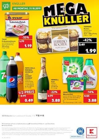 Cola im Kaufland Prospekt MEGA BILLIG auf S. 39
