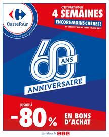 Catalogue Carrefour en cours, C'est parti pour 4 semaines, encore moins chères !, Page 1
