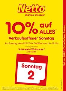 Der aktuelle Netto Marken-Discount Prospekt Verkaufsoffener Sonntag - 10% auf alles