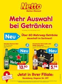 Netto Marken-Discount, MEHR AUSWAHL  BEI GETRÄNKEN für Wuppertal1