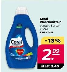 Waschmittel von Coral im aktuellen NETTO mit dem Scottie Prospekt für 2.99€