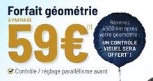 Forfait géométrie à Vulco dans Le Havre