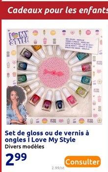 Set de gloss ou de vernis à ongles I Love My Style à Action dans Mézy-sur-Seine