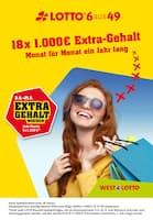Aktueller Westlotto Prospekt, Lotto 6aus49 - Extra Gehalt Wochen, Seite 1