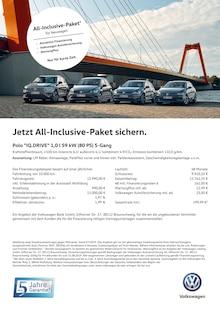 Volkswagen - Jetzt All-Inclusive-Paket sichern.
