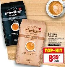 Kaffee von Schwiizer im aktuellen Metro Prospekt für 8.98€