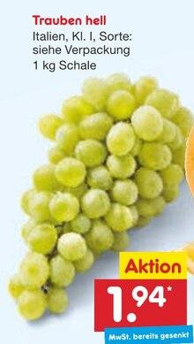Weintrauben im aktuellen Netto Marken-Discount Prospekt für 1.94€