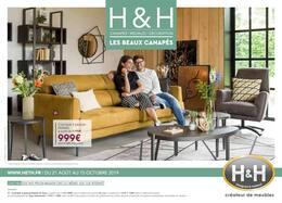 Catalogue H&H en cours, Les beaux canapés, Page 1