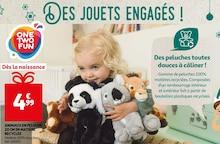 ANIMAUX EN PELUCHE 20 CM EN MATIÈRE RECYCLEE à Auchan dans Brunoy