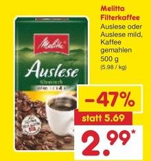 Kaffee von Melitta im aktuellen Netto Marken-Discount Prospekt für 2.99€