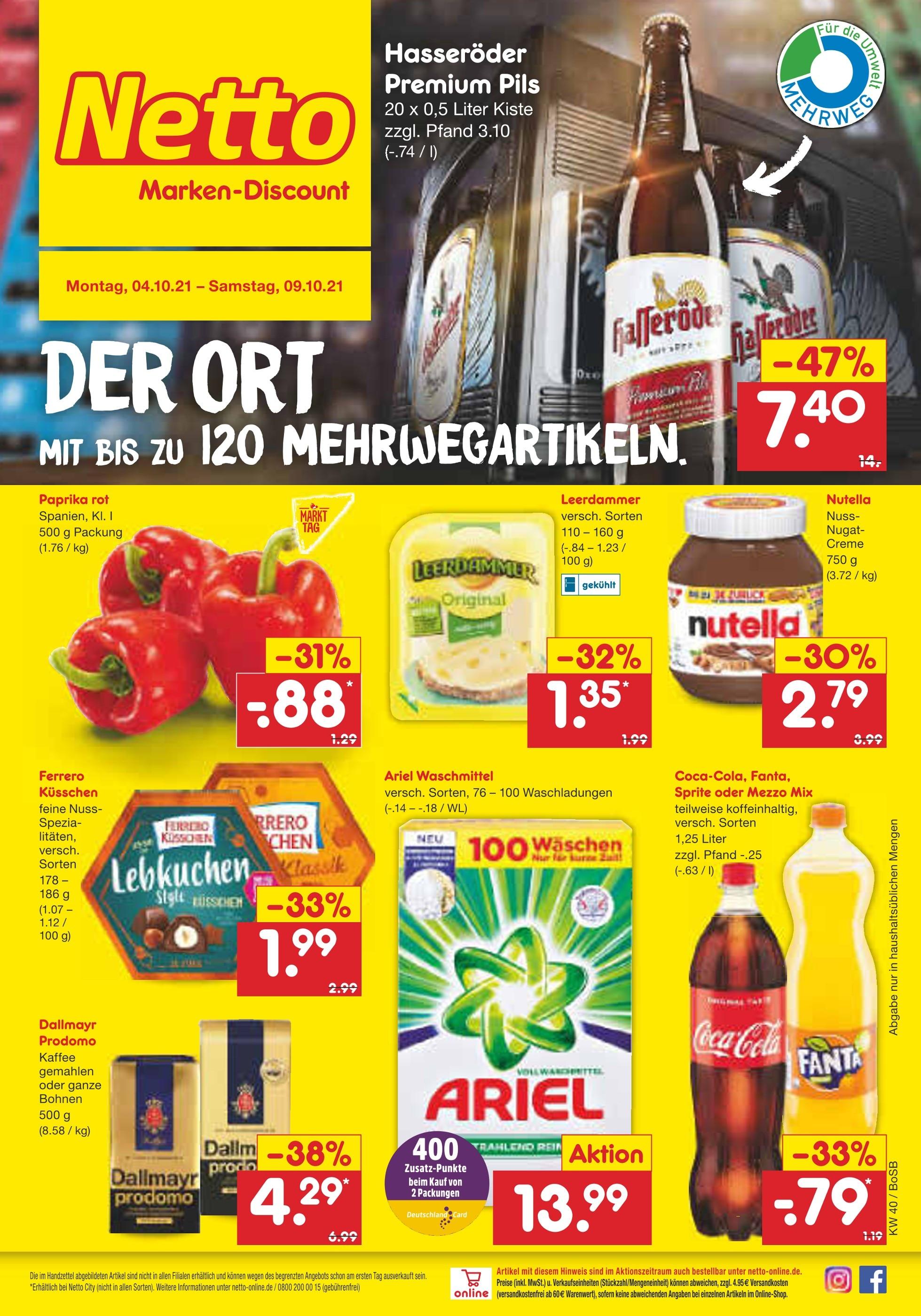 Netto Marken Discount Essen   Aktuelle Angebote im Prospekt