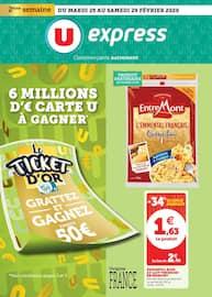 Catalogue U Express en cours, 6 millions d'€ carte U à gagner, Page 1