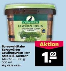 Gurken von SpreewaldRabe im aktuellen NETTO mit dem Scottie Prospekt für 1.69€