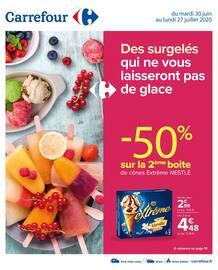 Catalogue Carrefour en cours, Des surgelés qui ne vous laisseront pas de glace, Page 1