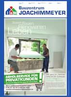 Aktueller Bauzentrum Joachimmeyer Prospekt, Besser Bauen. Renovieren. Leben., Seite 1