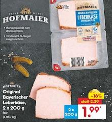 Wurst von HOFMAIER im aktuellen Netto Marken-Discount Prospekt für 1.99€