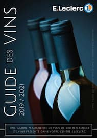Catalogue E.Leclerc en cours, Guide des vins 2019/2021, Page 1