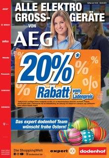 expert dodenhof, ALLE ELEKTROGROSSGERÄTE VON AEG 20% RABATT für Bremen
