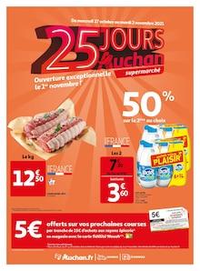 "Auchan Catalogue ""25 jours Auchan"", 8 pages, Massy,  26/10/2021 - 02/11/2021"