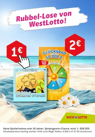 Aktueller Westlotto Prospekt, Rubbel-Lose von WestLotto!, Seite 1